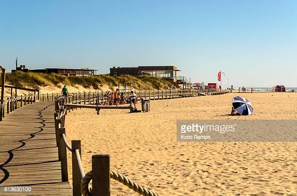 wooden platform on the beach - Aveiro Portugal