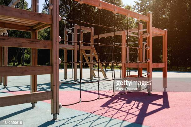 wooden playground - audience free event stock pictures, royalty-free photos & images