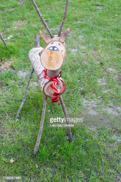 wooden reindeer decorating - 2020 2029 stock pictures, royalty-free photos & images