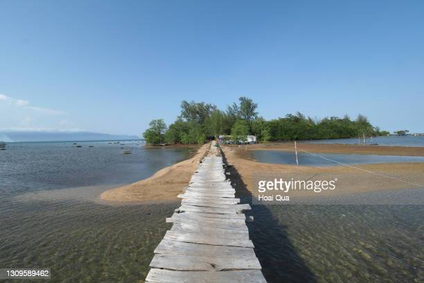 wooden road to a small island in phu quoc - saitama prefecture stock pictures, royalty-free photos & images