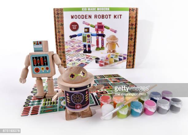 Wooden Robot Kit from Kid Made Modern one of the items for the Post's annual gift guide on October 2017 in Washington DC