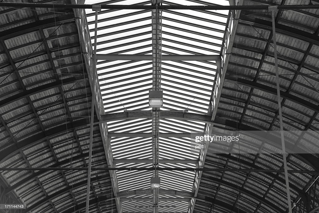 Wooden roof of a vault : Stock Photo