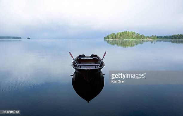 Wooden rowboat