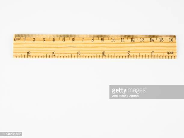 a wooden ruler - センチメートル ストックフォトと画像