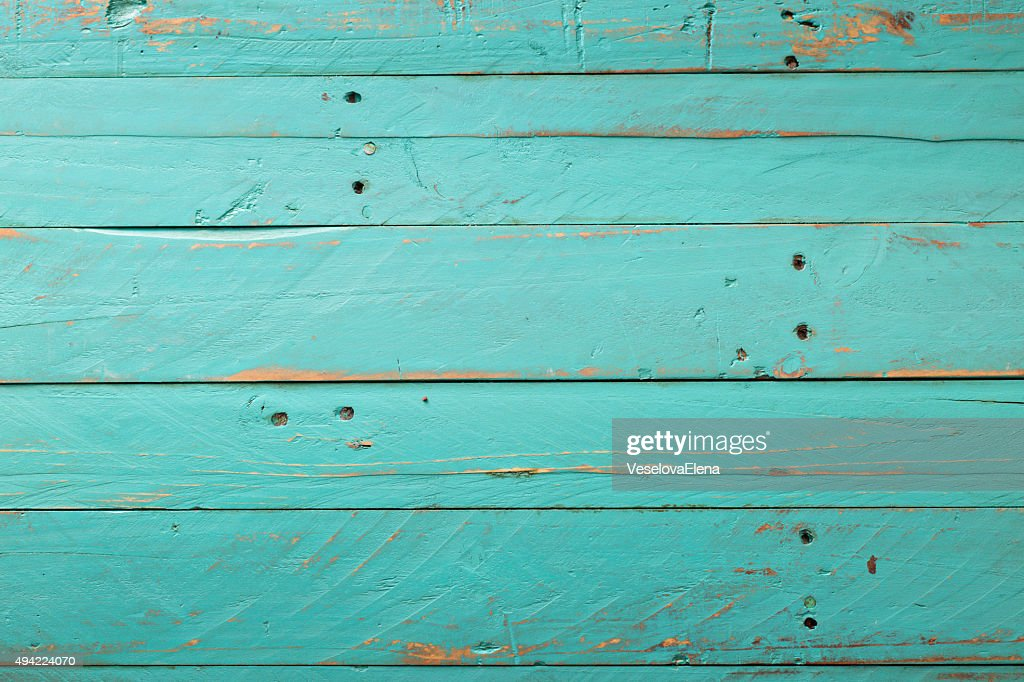 Wooden Rustic Turquoise Background Stock Photo