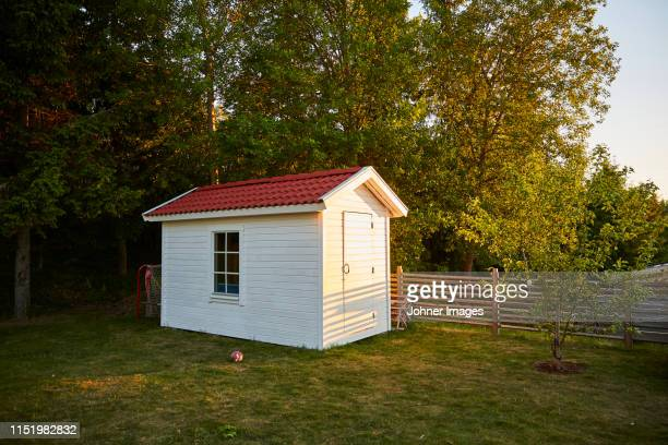 wooden shed - shed stock pictures, royalty-free photos & images