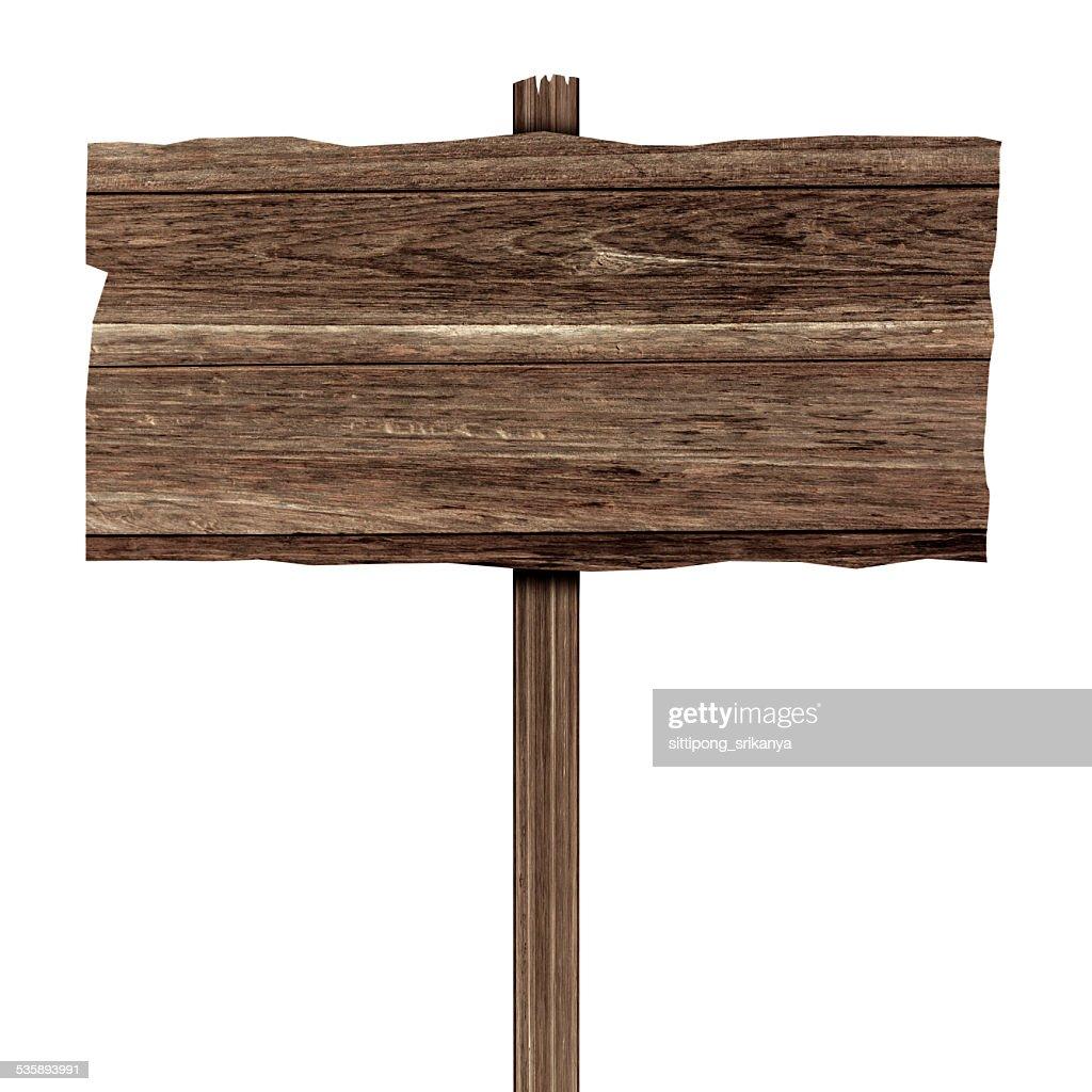木製看板白で分離。木製の古い planks : ストックフォト