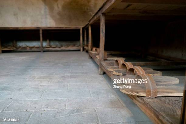 Wooden slippers in the community bathhouse From 1968 to 1978 more than 84 thousand Shanghai educated youth came to Dafeng farm On the Yellow Sea...