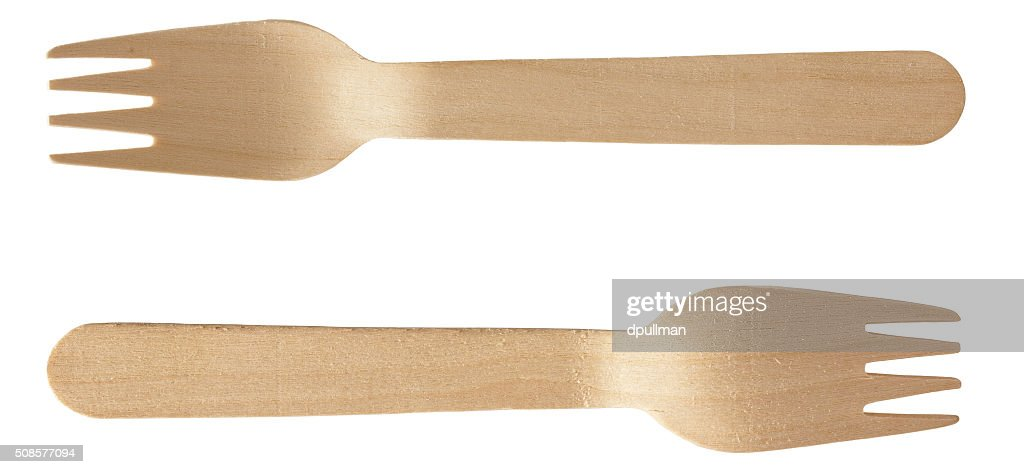 Wooden Spoon Fork : Stock Photo