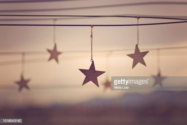 wooden stars - december stock pictures, royalty-free photos & images