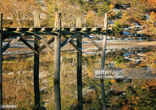 wooden structure on field during autumn - nancy green stock pictures, royalty-free photos & images