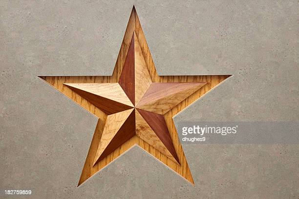 Wooden Symbol for Texas, the Lone Star State