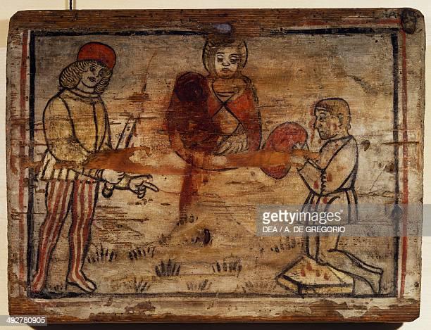 Wooden tablet, ex voto, Italy, 15th century.