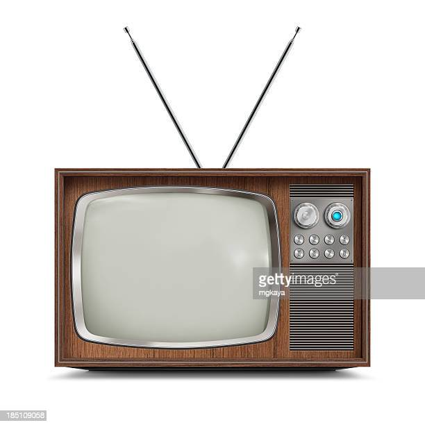Wooden Television - Blank Screen
