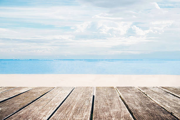 Free summer images pictures and royalty free stock photos wooden terrace with the beach view in summer voltagebd Gallery