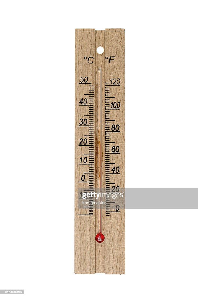 Termometro in legno : Foto stock