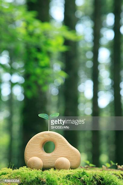 wooden toy car - snag tree stock pictures, royalty-free photos & images