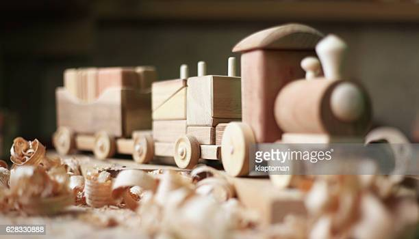 wooden toy - carving craft product stock pictures, royalty-free photos & images