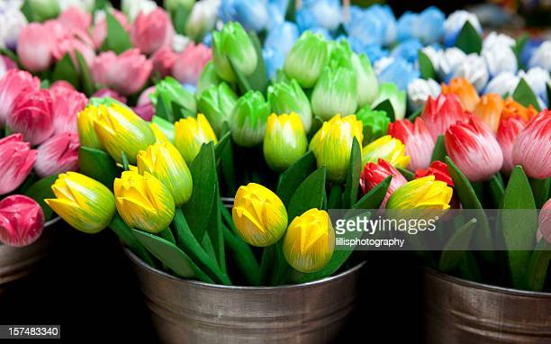 Wooden Tulips for Sale in Amsterdam