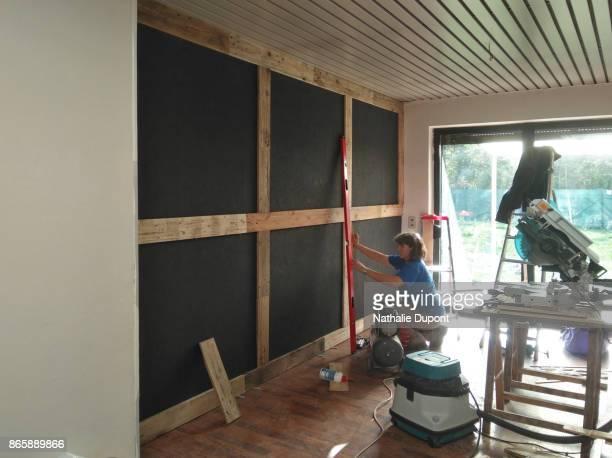 Wooden wall cladding - préparation
