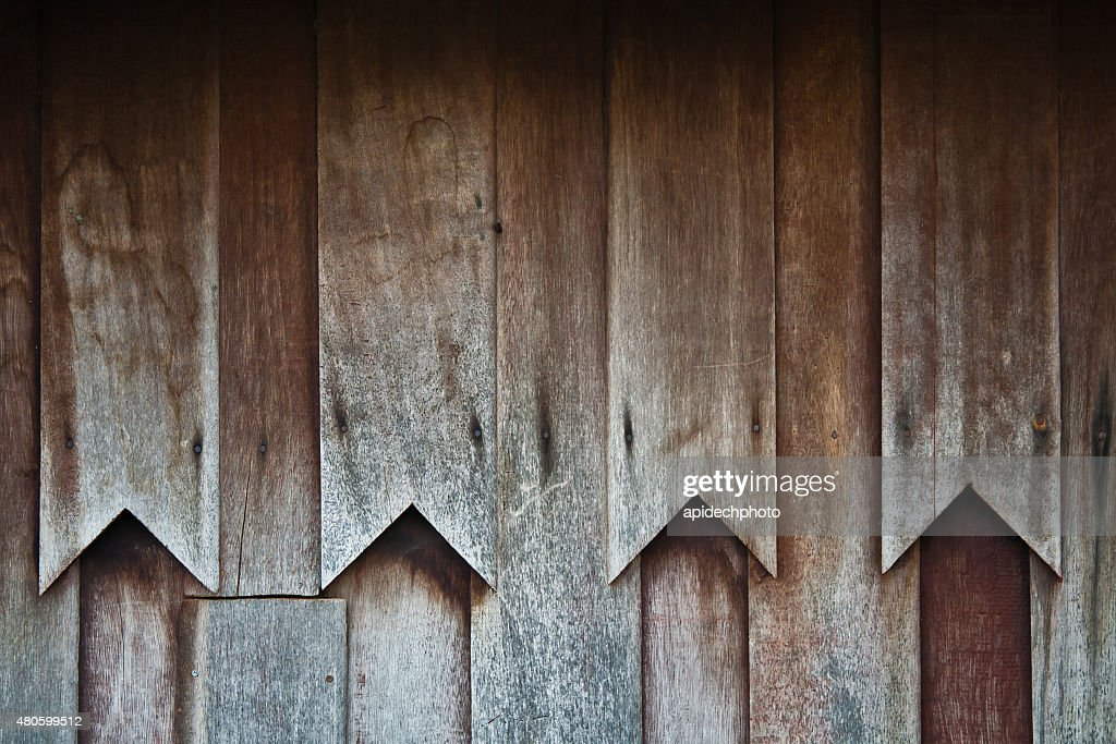 Wooden wall of Thai house in Thai traditional style : Stock Photo