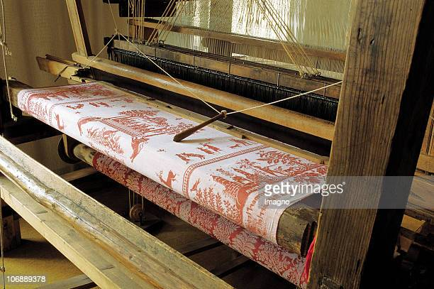 Wooden weaving looms in the Museum of Haslach in the production of the famous 'Muehlviertler towels Photography Around 2000