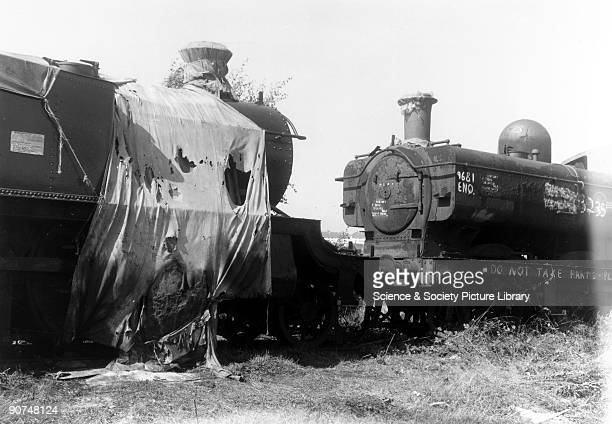 Woodhams Scrapyard at Barry in Glamorgan c 1970s This scrapyard was meant to have broken up over 200 locomotives that were withdrawn from British...
