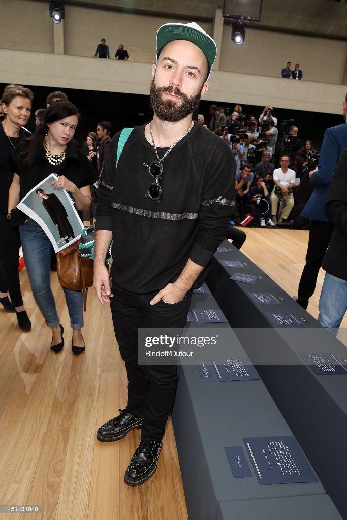 Dior Homme : Front Row - Paris Fashion Week - Menswear S/S 2015