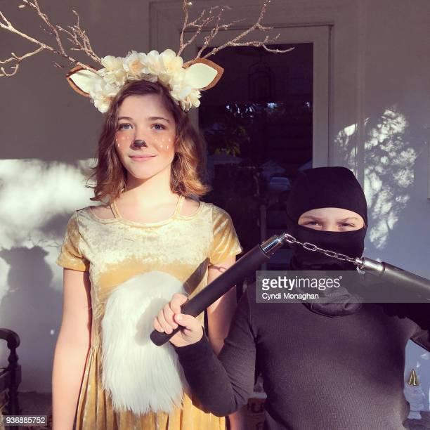 Woodland Deer and Ninja Halloween Kids