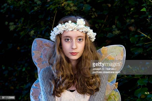 woodland fairy closeup - joseph o. holmes stock pictures, royalty-free photos & images
