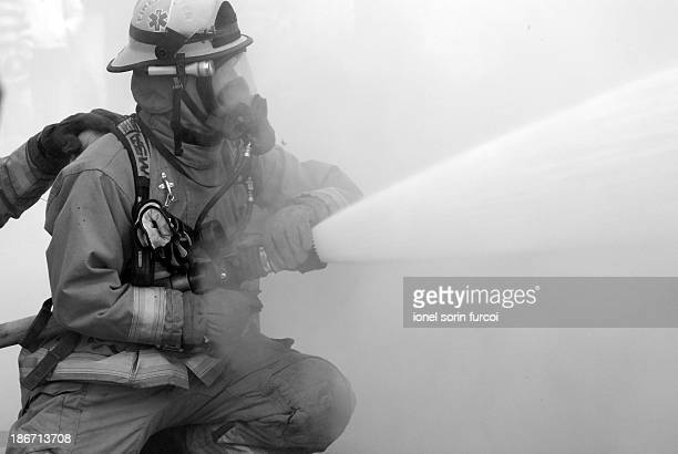 Woodland , Washington fire fighters in action
