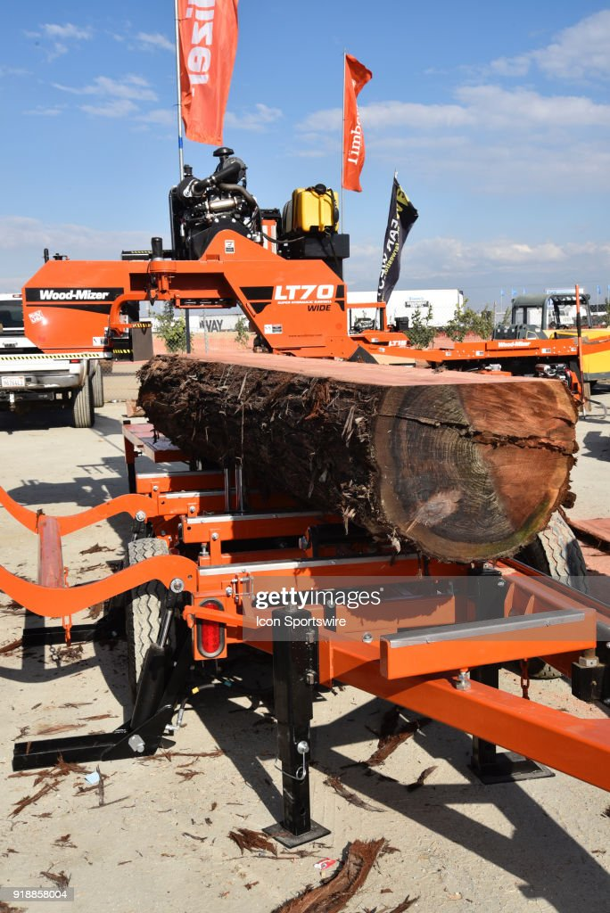 Wood-Mizer LT70 portable sawmill on display during the 51st