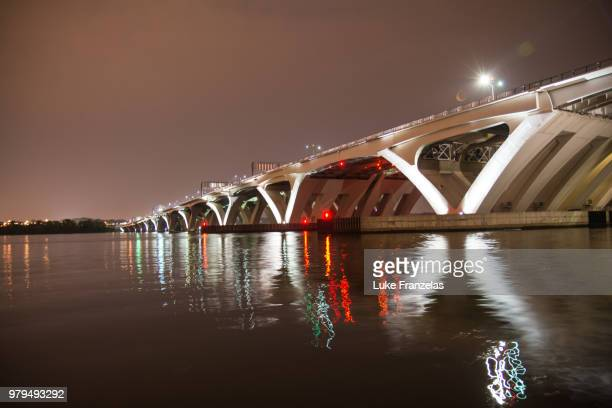 woodrow wilson bridge 2 - woodrow wilson bridge stock pictures, royalty-free photos & images