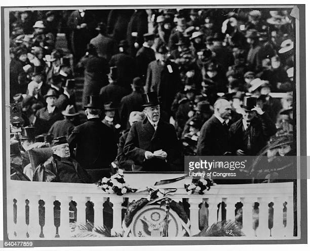 Woodrow Wilson during Inagural address March 4 1913 Mediumphoto Artist Printer Publisher Copyright claim Date Source 8122