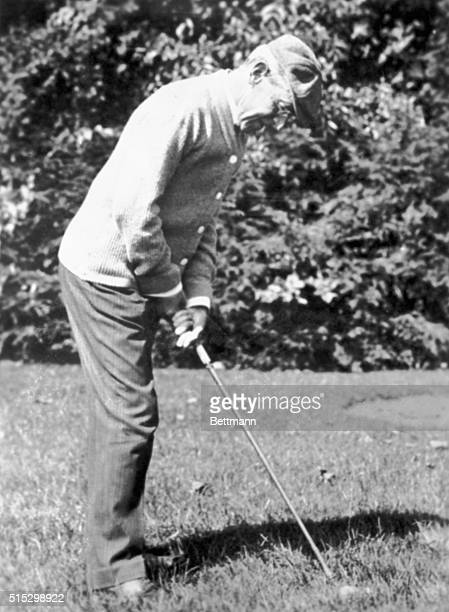 Woodrow Wilson President of the United States He is playing golf Undated photograph
