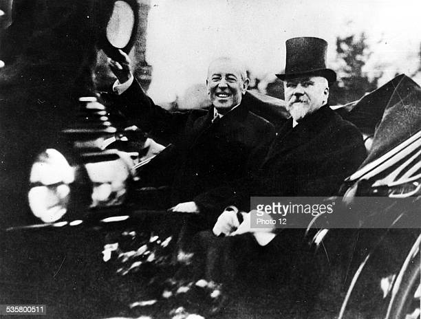 Woodrow Wilson president of the United States in visit in Paris 1918