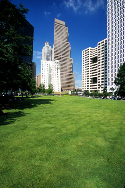 Woodruff Park and Atlanta Financial District, Atlanta - Georgia.