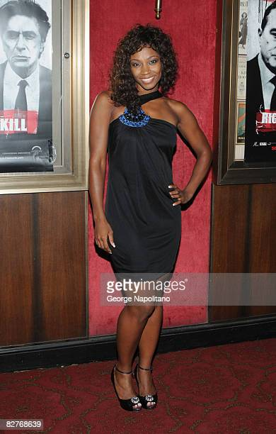 D Woods attends attends the New York premiere of 'Righteous Kill' at the Ziegfeld Theater on September 10 2008 in New York City