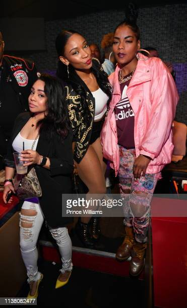 D Woods attends The gold Party Celebration for Lil Duval at District on March 22 2019 in Atlanta Georgia