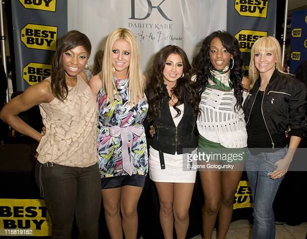 D Woods Aubrey O'Day Aundrea Fimbres Dawn Richard and Shannon Bex of Danity Kane Sign Copies of Their New CD Welcome To The Dollhouse at Best Buy in...