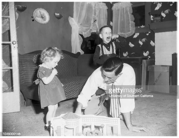 Woods familyall have birthdays on same day January 18 23 January 1952 John V Woods fatherJohn Butler Woods sonKaren Woods daughterCaption slip reads...
