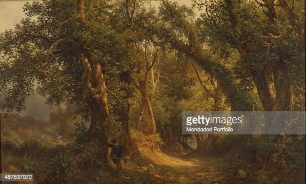 Woods with a Rogue in Ambush by Massimo d'Azeglio 19th Century oil on canvas5 x 1375 cm Italy Lazio Rome National Gallery of Modern and Contemporary...