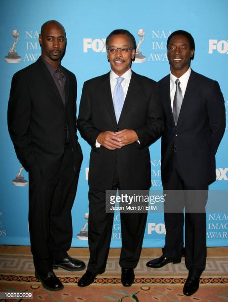 DB Woodside Bruce S Gordon President and CEO of the NAACP and Isaiah Washington