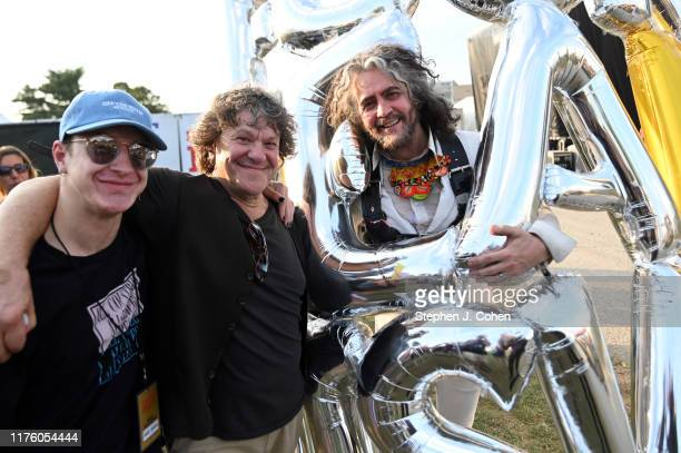 Woodstack producer and cofounder Michael Lang and Wayne Coyne of the band The Flaming Lips poses backstage during the 2019 Bourbon Beyond Music...