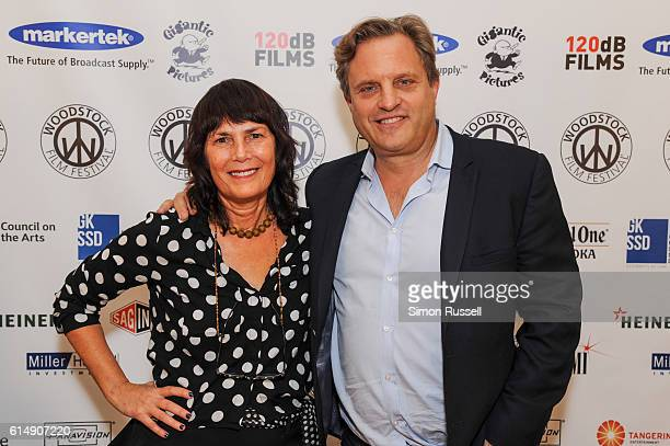 Woodstock Film Festival Founder Meira Blaustein and Michael Mailer attend the Blind premiere at the Woodstock Playhouse on October 13 2016 in...