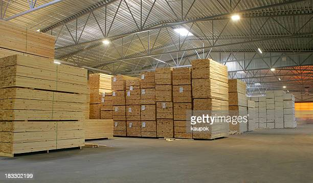 Woodsupply in a warehouse