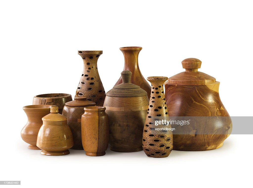 Woodturned Vases And Containers Stock Photo Getty Images