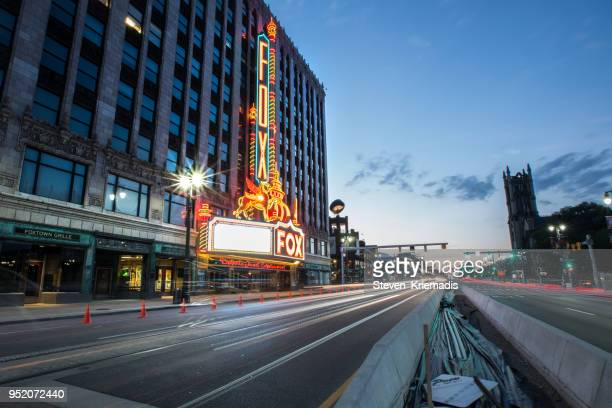 woodward avenue - detroit, michigan - detroit michigan stock pictures, royalty-free photos & images