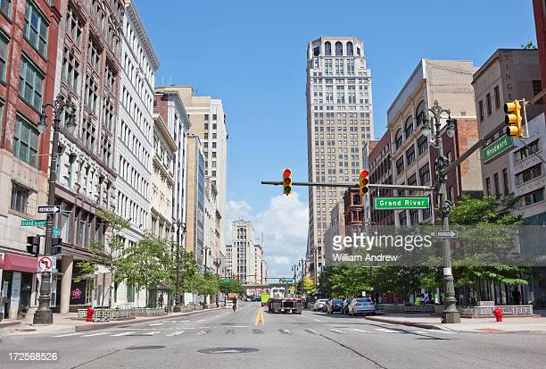 Woodward Avenue, downtown Detroit