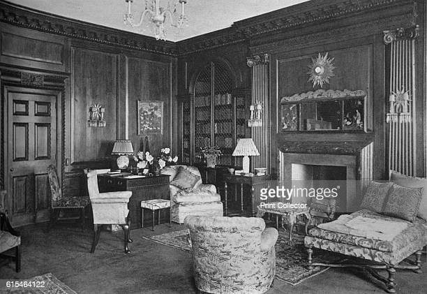 Woodwork from an old English room adds interest to the library house of Miss Anne Morgan New York City 1924 Anne Morgan was a wealthy socialite and...
